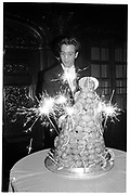 MATTHEW VAUGHN, Matthew Vaughan 18th birthday. Novello Room, Wardour St, London. 17 March 1989,<br /> <br /> SUPPLIED FOR ONE-TIME USE ONLY> DO NOT ARCHIVE. © Copyright Photograph by Dafydd Jones 248 Clapham Rd.  London SW90PZ Tel 020 7820 0771 www.dafjones.com