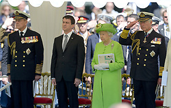 Buckingham Palace has announced Prince Philip, The Duke of Edinburgh, has passed away age 99 - FILE - (left to right) The Duke of Edinburgh, French Prime Minister Manuel Valls, Queen Elizabeth II and The Prince of Wales attend the bi-national France-UK ceremony at the Commonwealth War Graves Cemetery in Bayeux, as part of the official ceremonies on the occasion of the D-Day 70th Anniversary, on June 6, 2014 in Normandy, France. Photo by Abd Rabbo-Bernard-Gouhier-Mousse/ABACAPRESS.COM