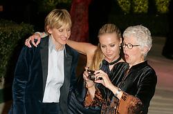 Portia De Rossi and Ellen DeGeneres attending the Vanity Fair Party Oscar Party, Los Angeles on 25/02/2007.