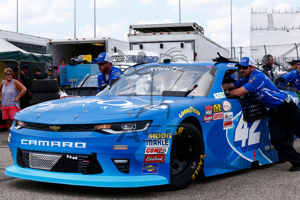 April 28, 2017 - Richmond, Virginia, USA: Kyle Larson (42) takes to the track to practice for the ToyotaCare 250 at Richmond International Speedway in Richmond, Virginia.