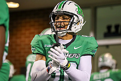 Dec 18, 2020; Huntington, West Virginia, USA; Marshall Thundering Herd wide receiver Shadeed Ahmed (80) cheers prior to kickoff before their game against the UAB Blazers at Joan C. Edwards Stadium. Mandatory Credit: Ben Queen-USA TODAY Sports