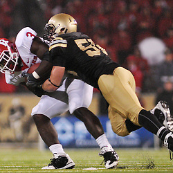 Oct 23, 2009; West Point, N.Y., USA; Rutgers tight end Shamar Graves (3) makes a reception while under pressure during Rutgers' 27 - 10 victory over Army at Michie Stadium.