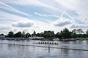 """Henley on Thames. United Kingdom.  Princeton University Women, passing the """"Hole In the WallL Monday,  27/06/2016,   16:18:38   2016 Henley Royal Regatta, Henley Reach.   [Mandatory Credit Peter Spurrier/ Intersport Images]"""