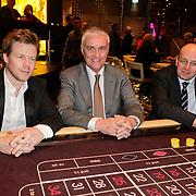 NLD/Schveningen/20120307 - Heropening Holland Casino Scheveningen, DJ Ferry Corsten, bestuursvoorzitter Dick Flink en staatsecretaris Fred Teeven van Veiligheid en Justitie