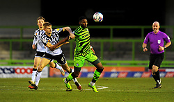 Jamille Matt of Forest Green Rovers is held back by Nathan Smith of Port Vale- Mandatory by-line: Nizaam Jones/JMP - 16/01/2021 - FOOTBALL - innocent New Lawn Stadium - Nailsworth, England - Forest Green Rovers v Port Vale - Sky Bet League Two