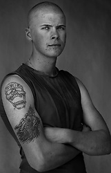Lance Corporal Jacob Reich, 20, Grant's Pass, OR, 1st Platoon, Kilo Company, 3rd Battalion 1st Marine Regiment. 1st Marine Division, United States Marine Corps at the company's firm base in Haditha, Iraq on Thursday, Oct. 12, 2005.