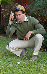 handsome golfer outdoors