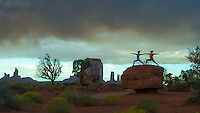 Heeki Pakl & Abby Chan at Monument Valley