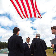 NC Governor, Pat McCrory, attends the grand opening of interstate 485 in Mecklenburg county, NC.