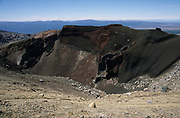 Red Vent, Mount Tongariro, New Zealand, Volcano, blue sky, active stratovolcano, Tongariro volcanic complex, Central Plateau of the North Island, contains active fumaroles
