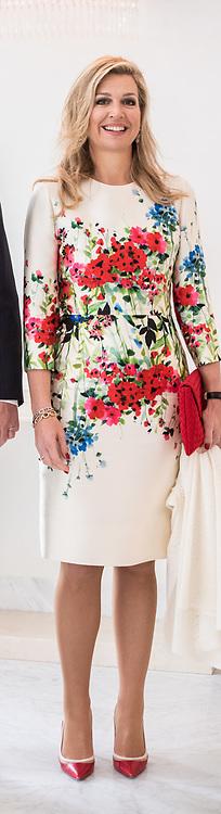 Koning Willem-Alexander en koningin Maxima ontvangen de Mexicaanse president Pena Nieto en zijn echtgenote Angelica Rivera de Pena /// King Willem-Alexander and Queen Maxima receive the Mexican president Pena Nieto and his wife Angelica Rivera de Pena<br /> <br /> Op de foto / On the photo:  Koningin Maxima / Queen Maxima