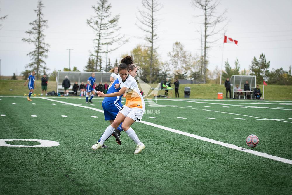 3rd year midfielder Brigit Sinaga (10) of the Regina Cougars during the Women's Soccer Homeopener on September 16 at U of R Field. Credit: Arthur Ward/Arthur Images