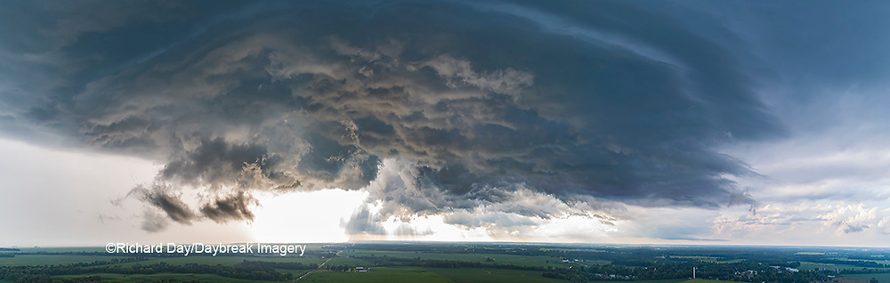 63891-03113 Aerial view of thunderstorm clouds Marion Co. IL