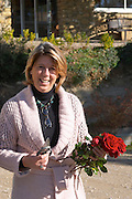 Caryl Panman Chateau Rives-Blanques. Limoux. Languedoc. Rose flower. Owner winemaker. France. Europe.