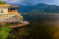 Houseboats, Dal Lake, Srinagar, Kashmir, Jammu and Kashmir State; India.