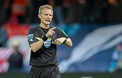 Dommer Jørgen Daugbjerg Burchardt under finalen i Sydbank Pokalen mellem AaB og SønderjyskE den 1. juli 2020 i Blue Water Arena, Esbjerg (Foto Claus Birch).