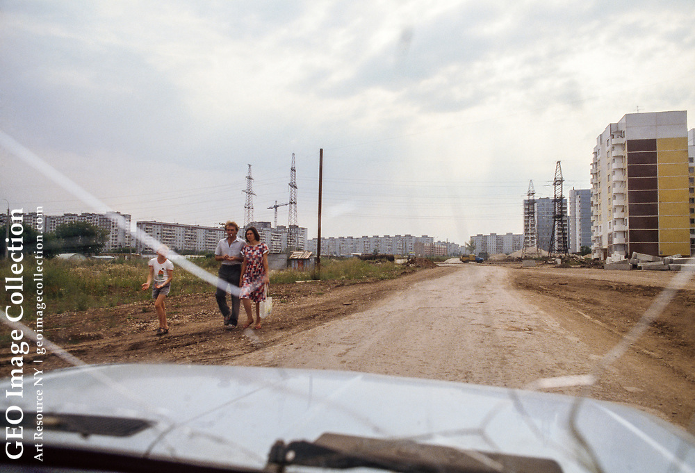 A bleak view of government housing in Samara, where people wait as long as 10 t o 15 years to get into an apartment.