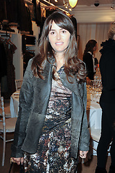 TANIA FARES at a ladies lunch at Ralph Laren, Westbourne Grove, London W11 hosted by Too Many Women in Support of Breakthrough Breast Cancer on 4th October 2010.
