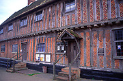 Half timbered building Laxfield town hall Suffolk England UK