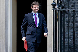 © Licensed to London News Pictures. 05/03/2019. London, UK. Secretary of State for Business, Energy and Industrial Strategy Greg Clark leaves 10 Downing Street after the Cabinet meeting. Photo credit: Rob Pinney/LNP