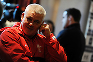 Wales coach Warren Gatland. Wales rugby team training at the Millennium stadium in Cardiff on Friday 10th Feb 2012.  pic by Andrew Orchard, Andrew Orchard sports photography,