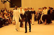 Alek Wek, Karl Lagerfeld, Chanel couture fashion show, Paris, 20 January 2004. © Copyright Photograph by Dafydd Jones 66 Stockwell Park Rd. London SW9 0DA Tel 020 7733 0108 www.dafjones.com