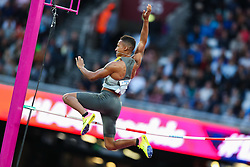 London, August 08 2017 . Raphael Marcel Holzdeppe, Germany, in the men's pole-vault final on day five of the IAAF London 2017 world Championships at the London Stadium. © Paul Davey.