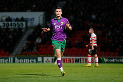 Matt Smith of Bristol City celebrates scoring a goal to make it 1-1 - Photo mandatory by-line: Rogan Thomson/JMP - 07966 386802 - 03/01/2015 - SPORT - FOOTBALL - Doncaster, England - Keepmoat Stadium - Doncaster Rovers v Bristol City - FA Cup Third Round Proper.