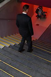 12.03.2011, Allianz Arena, Muenchen, GER, 1.FBL, FC Bayern Muenchen vs Hamburger SV, im Bild  Louis van Gaal (Trainer Bayern) verlaesst ueber die Treppe das Stadion, EXPA Pictures © 2011, PhotoCredit: EXPA/ nph/  Straubmeier       ****** out of GER / SWE / CRO  / BEL ******