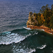 """Waves at Miners Castle"" <br />