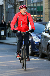 © Licensed to London News Pictures. 04/01/2020. London, UK. Leader of Labour Party and MP for Islington North, JEREMY CORBYN riding his bicycle in north London. Photo credit: Dinendra Haria/LNP