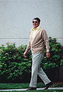 President  Ronald Reagan  leaving Bethesda Naval Hospital after a check up. At the time I though that there was something bothering his eye. He was rubbing it the weeks before when he was in Guam, and in China and the week before at a State Dinner. The check up was May 18, 1984<br /> <br /> by Dennis Brack