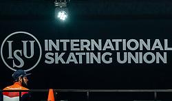 Sjinkie Knegt of Netherlands after the1000 meter during ISU World Short Track speed skating Championships on March 05, 2021 in Dordrecht