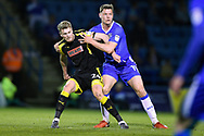 Rotherham United forward Michael Smith (24) and Gillingham FC defender Ben Nugent (19) during the EFL Sky Bet League 1 match between Gillingham and Rotherham United at the MEMS Priestfield Stadium, Gillingham, England on 17 April 2018. Picture by Martin Cole.
