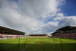 WREXHAM, WALES - Monday, May 2, 2016: A general view of the Racecourse Ground during the 129th Welsh Cup Final between Airbus UK Broughton and The New Saints. (Pic by David Rawcliffe/Propaganda)