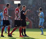 Referee Mike Jones<br /> - Barclays Premier League - Southampton vs Manchester City - St Mary's Stadium - Southampton - England - 30th November 2014 - Pic Robin Parker/Sportimage