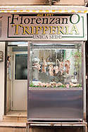 Shop selling tripe on a street market in Naples, Italy © Rudolf Abraham