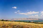 The view of the The Sea of Galilee from the Golan Heights, Israel