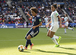 Mana IWABUCHI (JPN) Eliana STABILE (ARG) in action during the match of 2019 FIFA Women's World Cup France group D match between Argentina andJapan, at Parc des Princes on June 10, 2019 in Paris, France. Photo by Loic BARATOUX/ABACAPRESS.COM