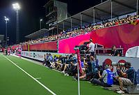 ANTWERPEN - media, fotografen met volle tribunes.  de finale mannen  Belgie-Spanje (5-0),  bij het Europees kampioenschap hockey. Belgie Europees Kampioen.   COPYRIGHT KOEN SUYK