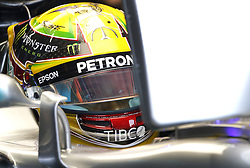 November 11, 2017 - Brazil - SAO PAULO, SP - 11.11.2017: QUALIFYING PARA GP F1 - British rider Lewis Hamilton of Mercedes prepares for qualifying practice at the Jose Carlos Pace race track in Interlagos, south of Sao Paulo, on Saturday morning (11). The teams are preparing for the qualifying session that takes place this afternoon, valid for the dispute of the Brazilian Grand Prix of Formula 1, which happens on Sunday, 12. (Credit Image: © Fotoarena via ZUMA Press)