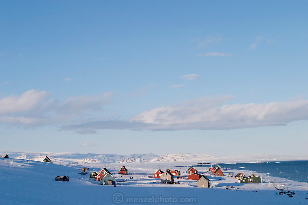 The remote village of Cap Hope, Greenland. Now home to just ten people, Cap Hope is where both Emil and Erika Madsen grew up. (Supporting image from the project Hungry Planet: What the World Eats.)