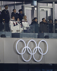 February 25, 2018 - Pyeongchang, KOREA - Ivanka Trump (right), daughter of President Donald Trump of the United States; and South Korea president Moon Jae-In during the closing ceremony for the Pyeongchang 2018 Olympic Winter Games at Pyeongchang Olympic Stadium. (Credit Image: © David McIntyre via ZUMA Wire)