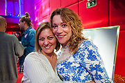 """Carmen Reveriego and Justine Ford during the opening """"Mi España"""""""