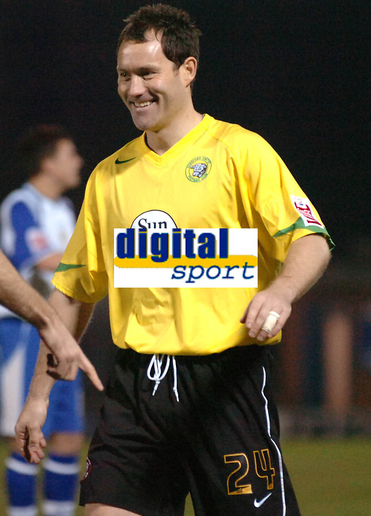 Photo: Paul Greenwood.<br />Bury v Hereford United. Coca Cola League 2. 30/01/2007. New signing Steve Guinan is all smiles after scoring on his debut