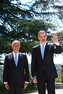 041618 King Felipe VI of Spain attends a meeting with Marcelo Rebelo de Sousa