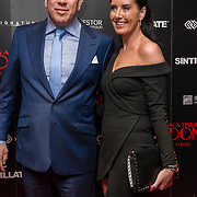 Terry Stone and Maxine Stone Arrivers at Once Upon a Time in London - London premiere of the rise and fall of a nationwide criminal empire that paved the way for notorious London gangsters the Kray Twins and the Richardsons at The Troxy 490 Commercial Road, on 15 April 2019, London, UK.