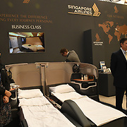 Singapore Airlines exhibition at Business Travel Show 2020 and travel technology europe on 26th February 2020, Olympia London‎, UK.
