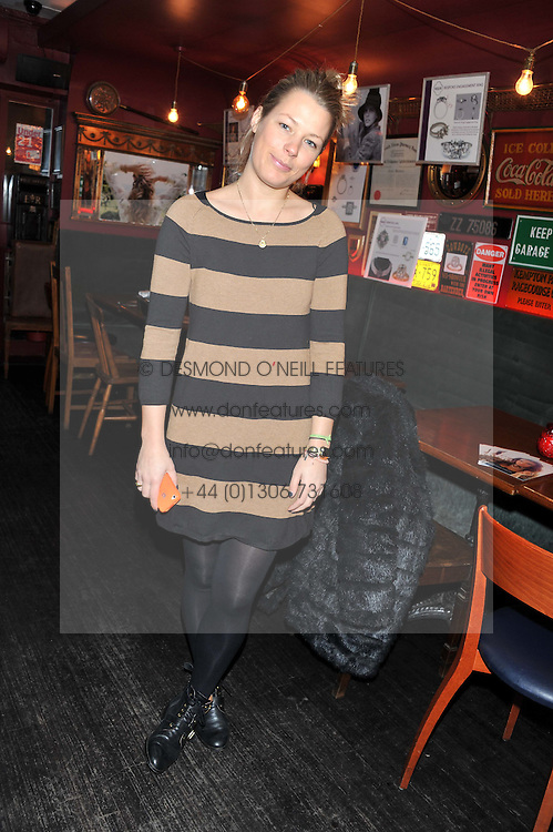 DAVINA HARBORD at a party to celebrate the best of W&W Jewellery held at Barts, 87 Sloane Avenue, London on 26th November 2012.