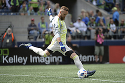May 26, 2018 - Seattle, Washington, U.S - MLS Soccer 2018: Seattle goalie STEFAN FREI in action as Real Salt Lake visits the Seattle Sounders in a MLS match at Century Link Field in Seattle, WA. RSL won the match 1-0. (Credit Image: © Jeff Halstead via ZUMA Wire)